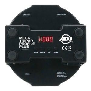 An example of DMX Lighting address assignment controls.