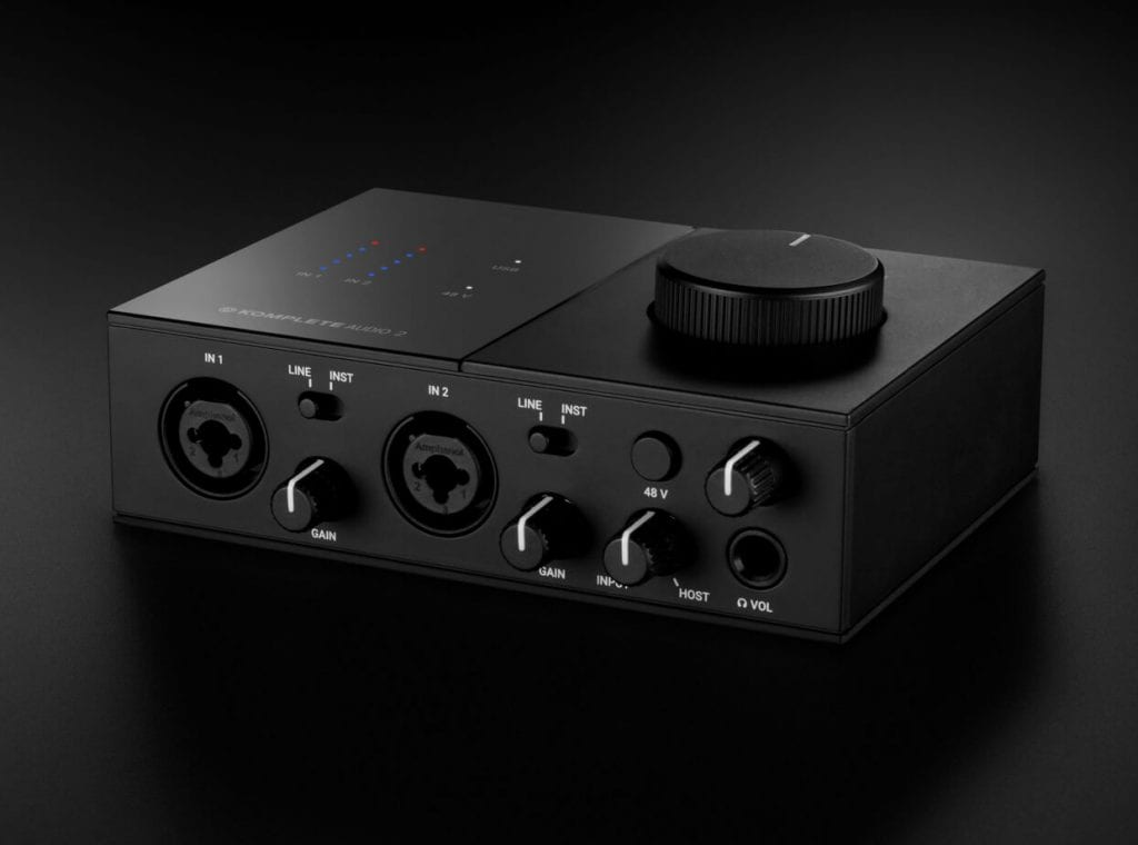 Komplete Audio 2 input angle view